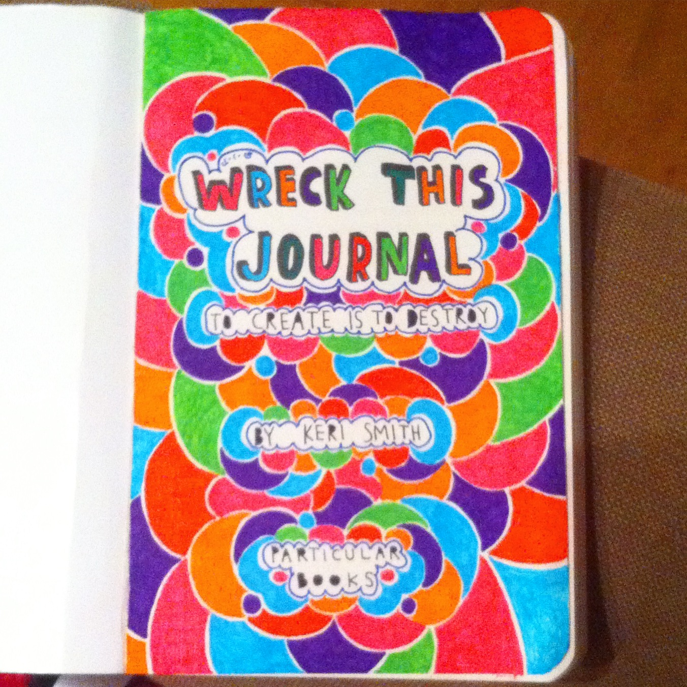wreck this journal pages pdf