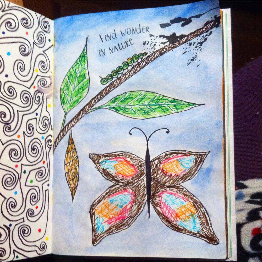 Anti Journal, Personal Art Journal and.... The Mindfulness Colouring Book (1/6)